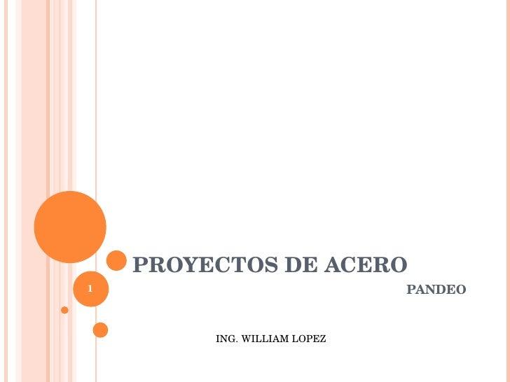 PROYECTOS DE ACERO PANDEO ING. WILLIAM LOPEZ