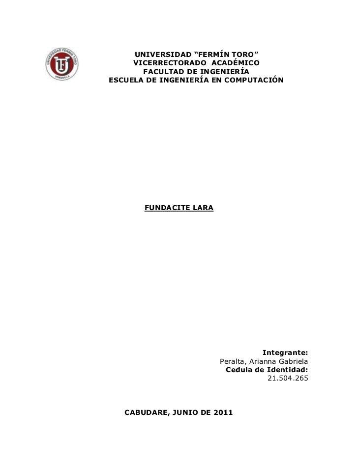 """-102235125730<br />UNIVERSIDAD """"FERMÍN TORO""""<br />VICERRECTORADO  ACADÉMICO<br />FACULTAD DE INGENIERÍA<br />ESCUELA DE IN..."""