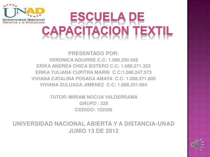 Creacion Escuela textil