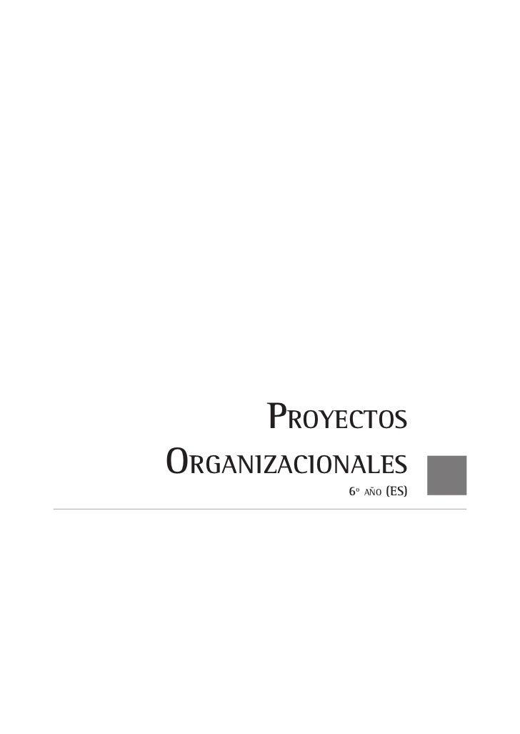 ProyectosOrganizacionales            6º   año   (ES)