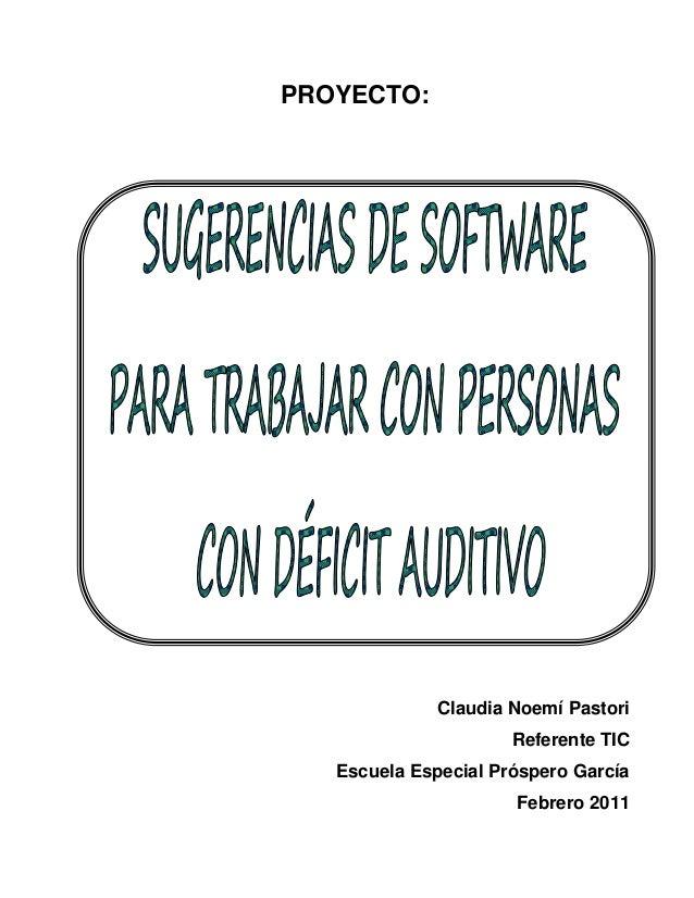 Proyecto sugerencias  software deficit auditivo  feb 2011