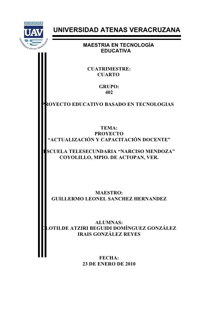 UNIVERSIDAD ATENAS VERACRUZANA              MAESTRIA EN TECNOLOGÍA                  EDUCATIVA                 CUATRIMESTRE...