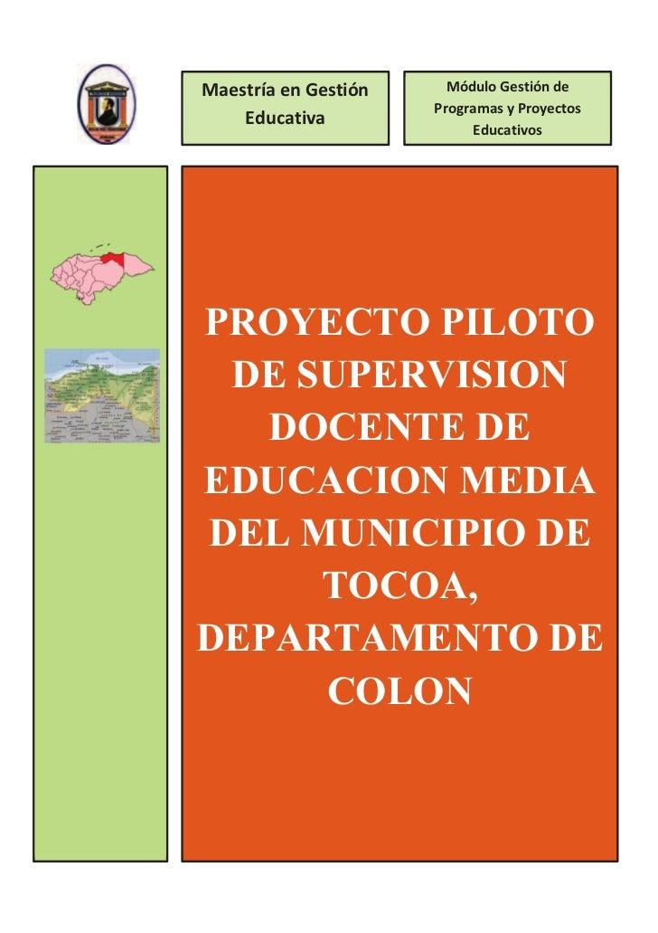 Maestría en Gestión     Módulo Gestión de                      Programas y Proyectos    Educativa                         ...