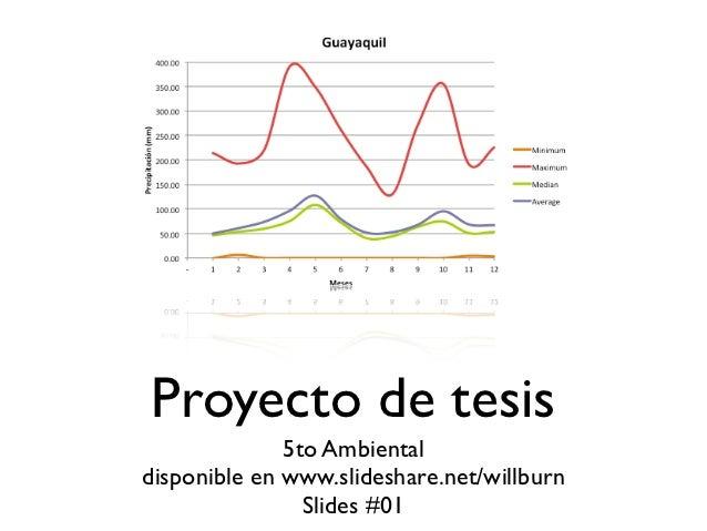 Proyecto de tesis              5to Ambientaldisponible en www.slideshare.net/willburn                Slides #01