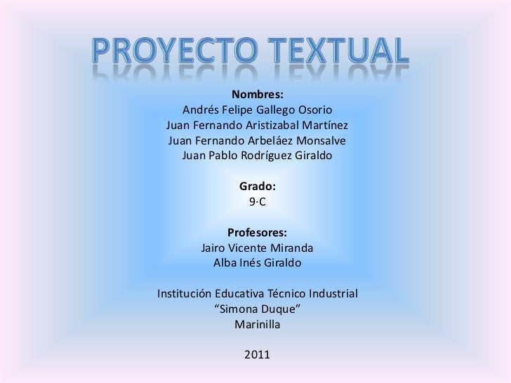 Proyecto Texual Equipo 6