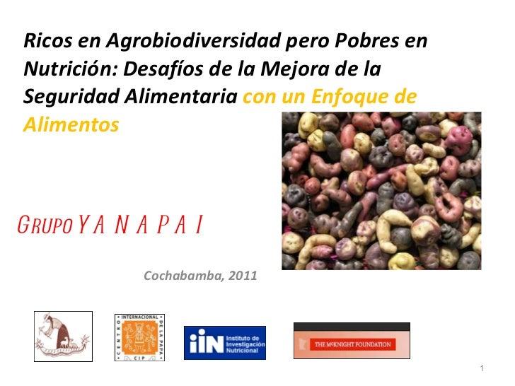 Ricos en Agrobiodiversidad pero Pobres en Nutrición: Desafíos de la Mejora de la Seguridad Alimentaria  con un Enfoque de ...