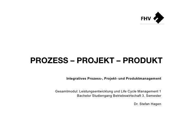 Prozessmanagement | Projektmanagement | Produktmanagement