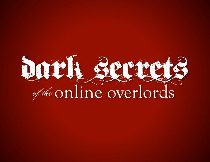 PRPD Webinar: Dark Arts of the Online Overlords