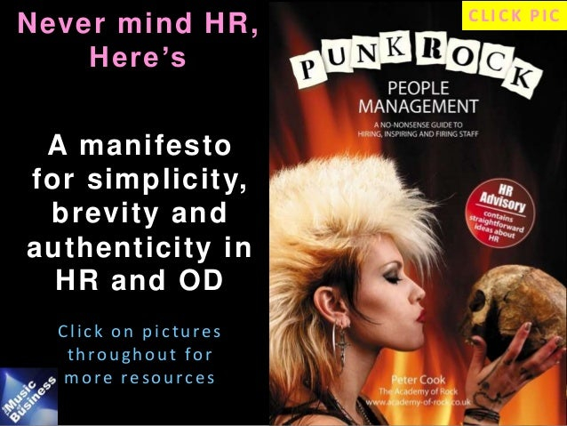 Punk Rock HR / OD sampler - Slide Deck for PPMA delegates