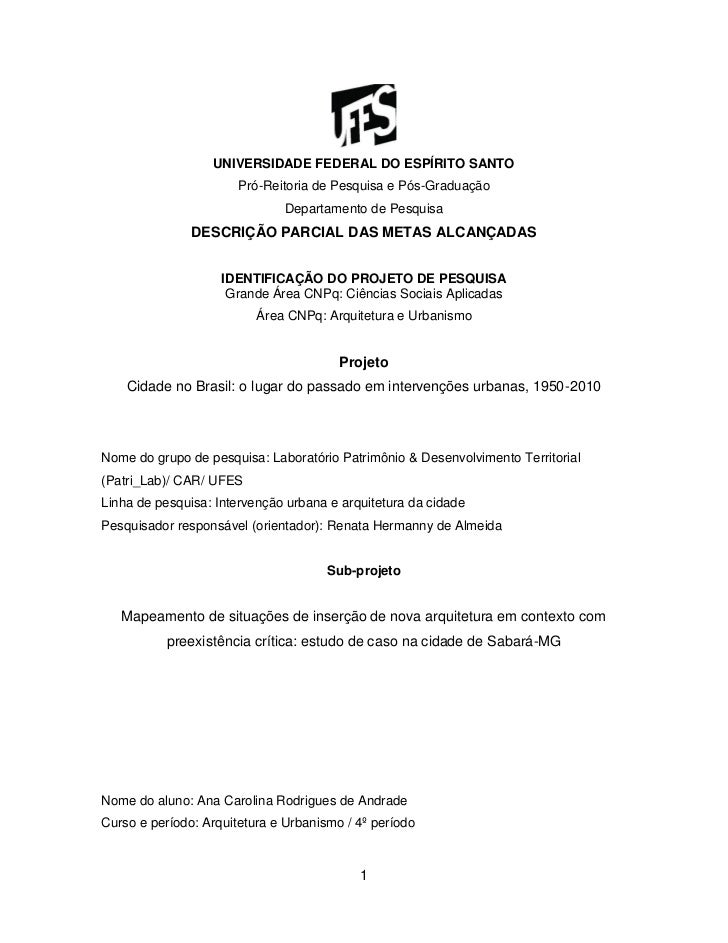 UNIVERSIDADE FEDERAL DO ESPÍRITO SANTO                       Pró-Reitoria de Pesquisa e Pós-Graduação                     ...