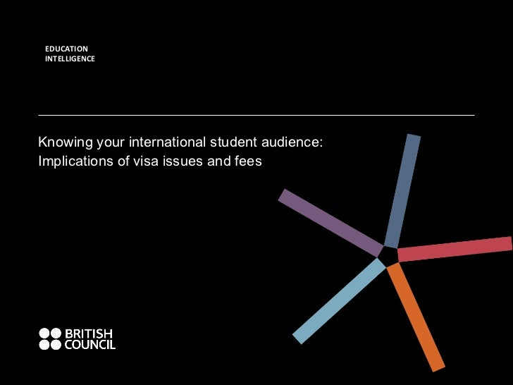 EDUCATION INTELLIGENCE Knowing your international student audience: Implications of visa issues and fees