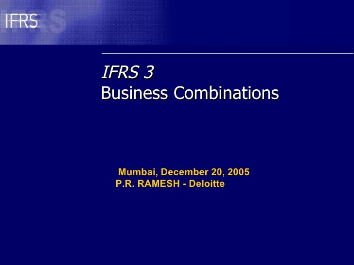 P R Ramesh Business Combinations