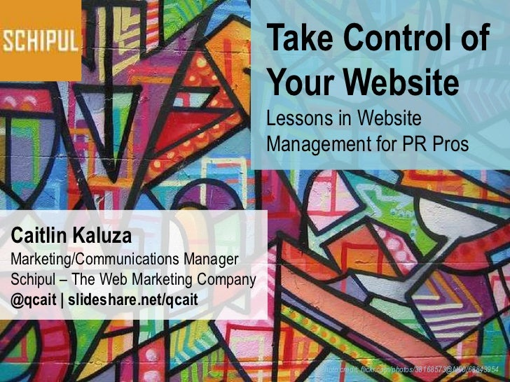 Take Control of                                      Your Website                                      Lessons in Website ...