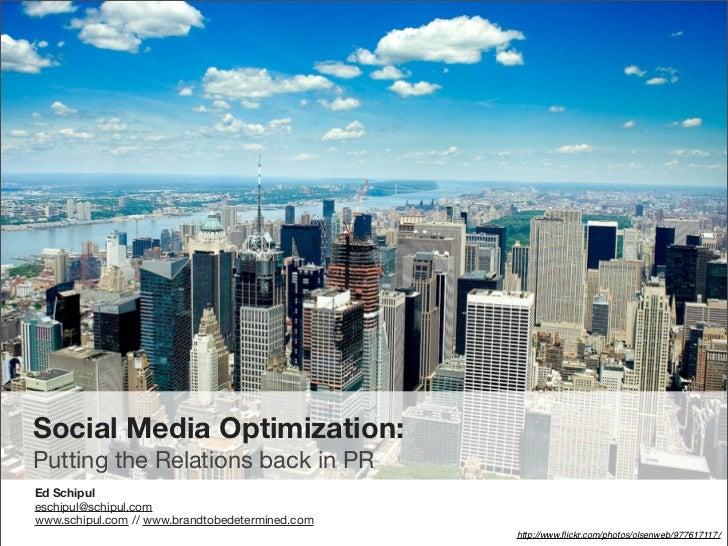 Social Media Optimization for PRSA SW District Conference