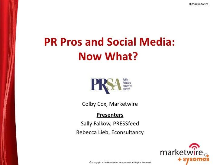 "PRSA 2010 - ""Branded Content"""