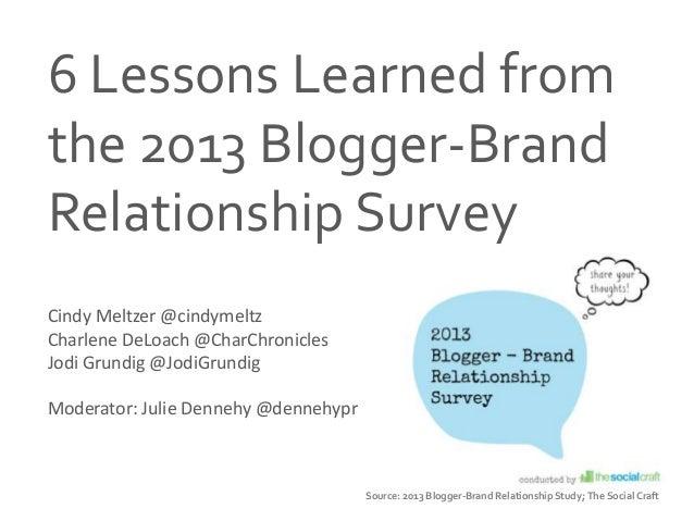 PRSA Boston 2013 Social Media Summit - Brand-Blogger Connection