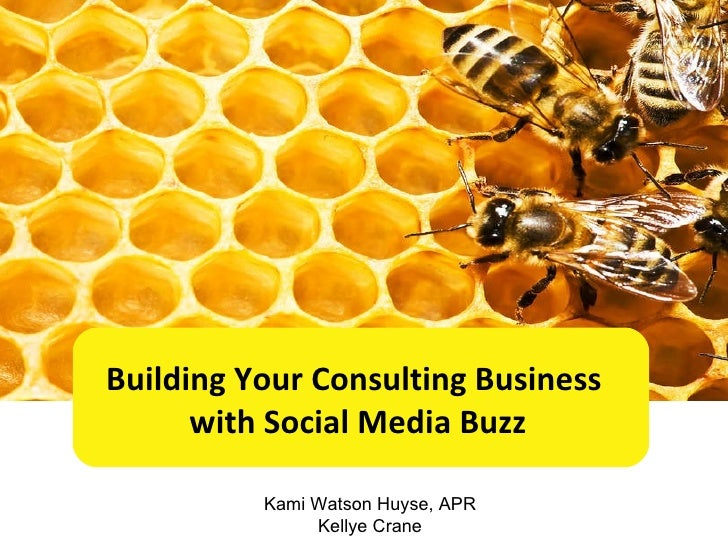 Building Your Consulting Business  with Social Media Buzz Kami Watson Huyse, APR Kellye Crane