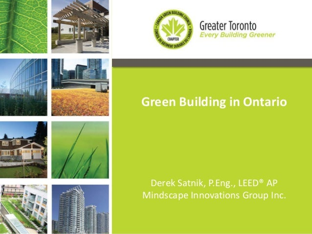 CaGBC Toronto: Partners In Project Green
