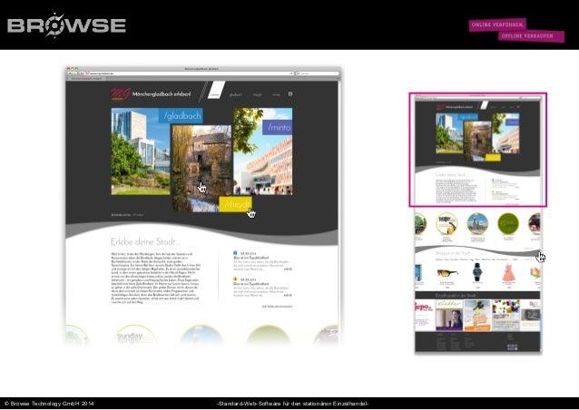 © Browse Technology GmbH 2014 -Standard-Web-Software für den stationären Einzelhandel-