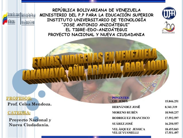 REPÚBLICA BOLIVARIANA DE VENEZUELA              MINISTERIO DEL P.P PARA LA EDUCACIÓN SUPERIOR                 INSTITUTO UN...