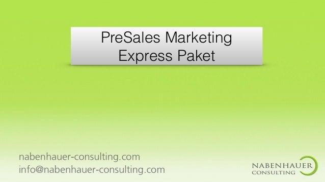 PreSales Marketing Express Paket