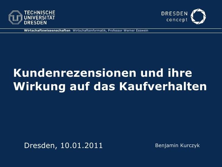Wirtschaftswissenschaften  Wirtschaftsinformatik, Professor Werner Esswein<br />Kundenrezensionen und ihre Wirkung auf das...
