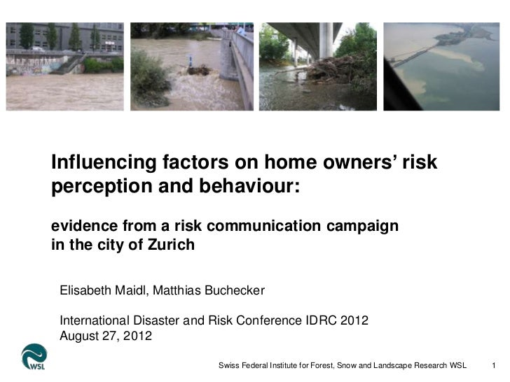 sdfInfluencing factors on home owners' riskperception and behaviour:evidence from a risk communication campaignin the city...