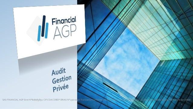 SAS FINANCIALAGP Siret N°808083851- CIF COA COBSP ORIAS N°15000246-Transaction sur Immeuble et Fond de Commerce N°153904 -...