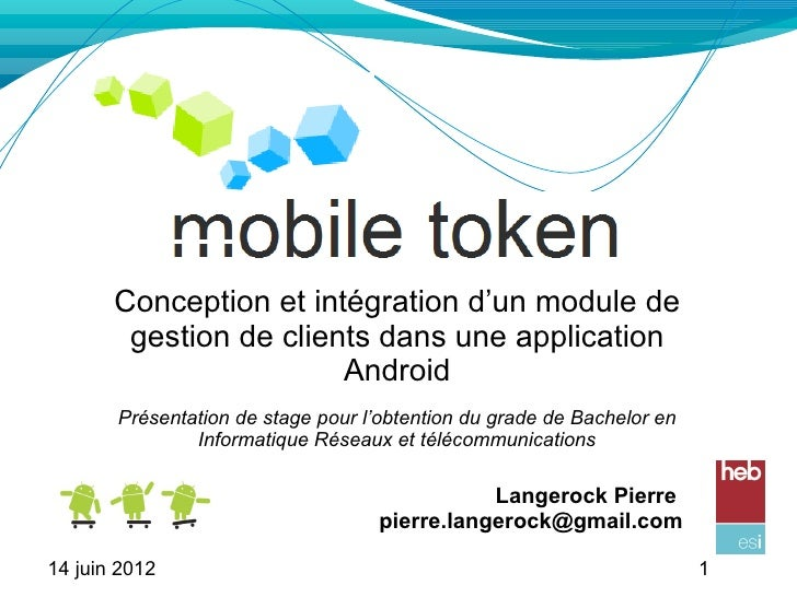 Conception et intégration d'un module de        gestion de clients dans une application                        Android    ...