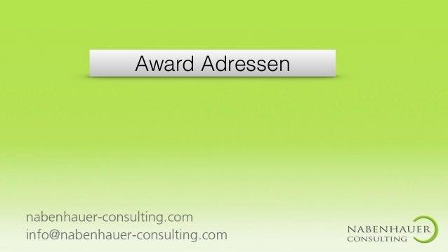 Award Adressen
