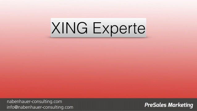 XING Experte