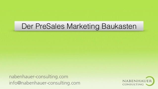 Der PreSales Marketing Baukasten