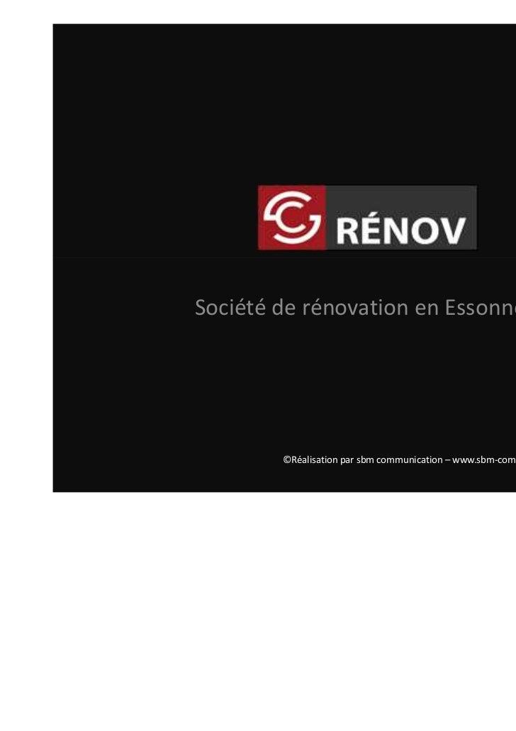 Société de rénovation d'intérieur en Essonne              ©Réalisation par sbm communication – www.sbm-communication.com