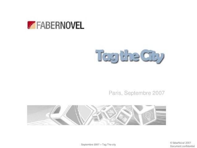 Présentation Tag The City 20 Septembre