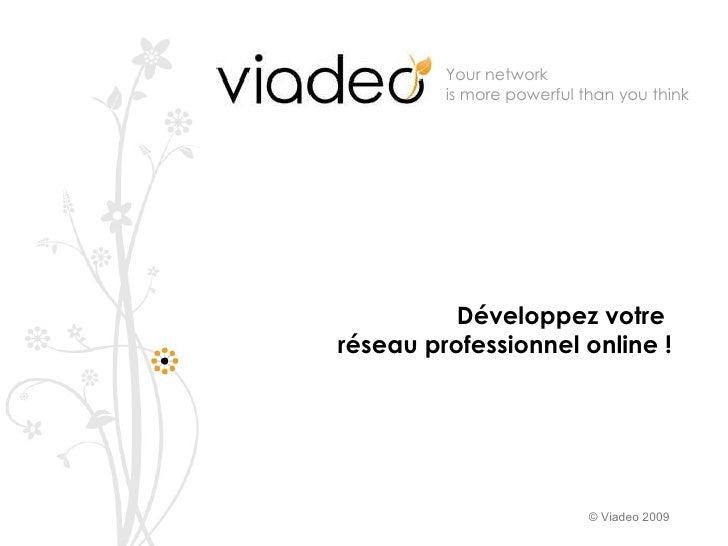 Présentation Viadeo Formation