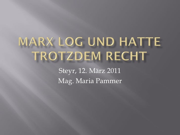Steyr, 12. März 2011Mag. Maria Pammer