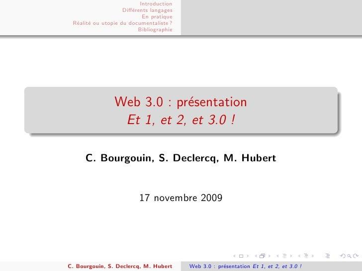 Introduction                     Diff´rents langages                        e                            En pratique  R´ali...