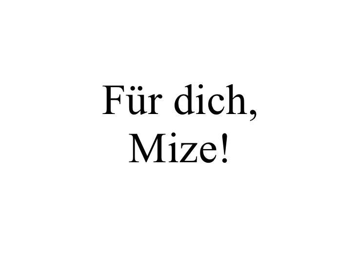 Für dich, Mize!