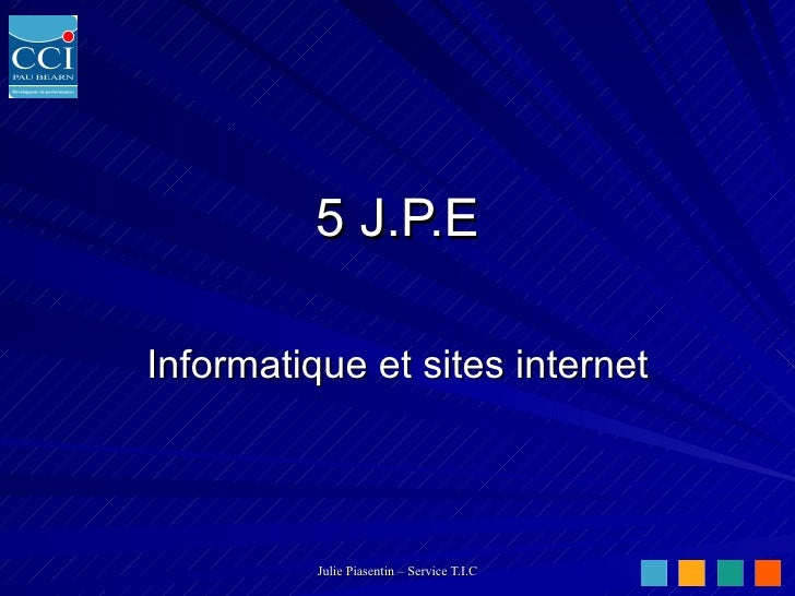 5 J.P.E Informatique et sites internet