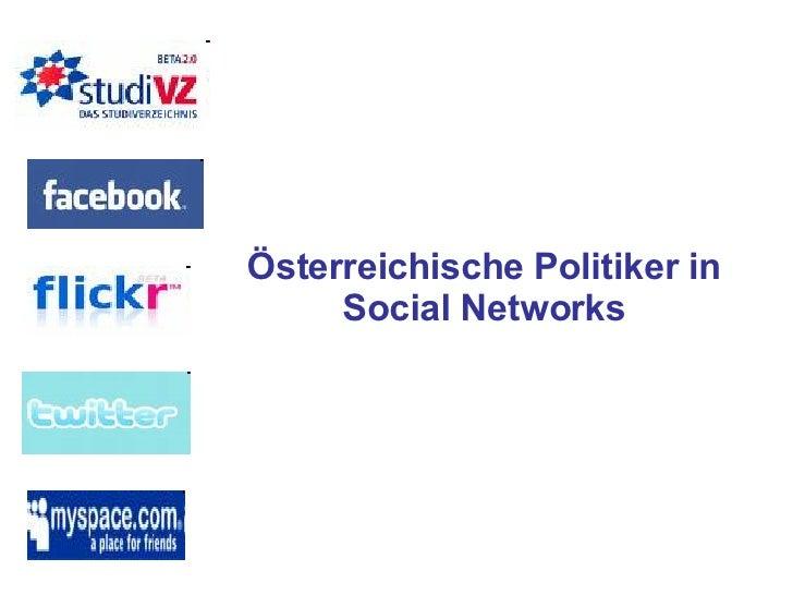 Österreichische Politiker in Social Networks