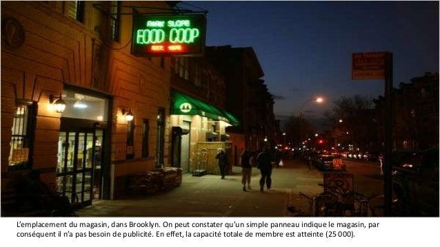 L'emplacement du magasin, dans Brooklyn. On peut constater qu'un simple panneau indique le magasin, par  conséquent il n'a...