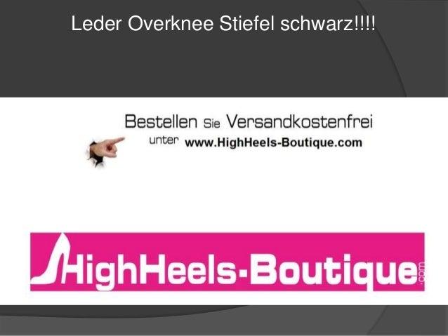 Leder Overknee Stiefel schwarz!!!!