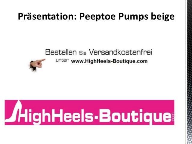 Präsentation: Peeptoe Pumps beige