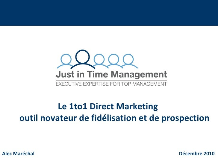 1to1 direct marketing multichannel communication