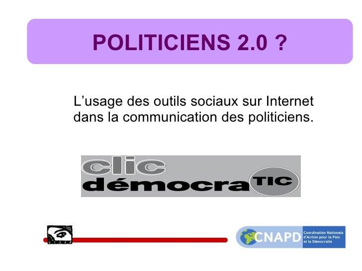 Politiciens belges et web 2.0