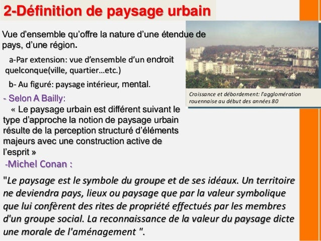 Paysage urbain for Paysage definition