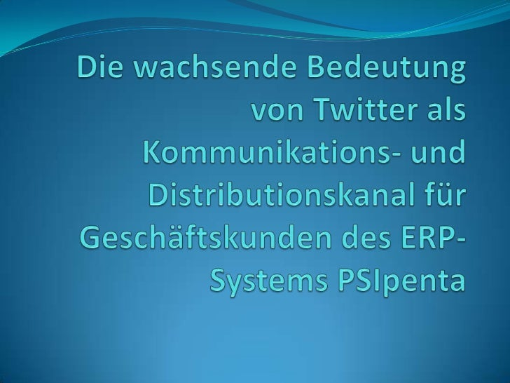 Agenda1. Twitter Allgemein2. Tweet-Verteilung in der Welt3. Verbindung des klassischen Marketing-Mix mit   Social Media Ma...