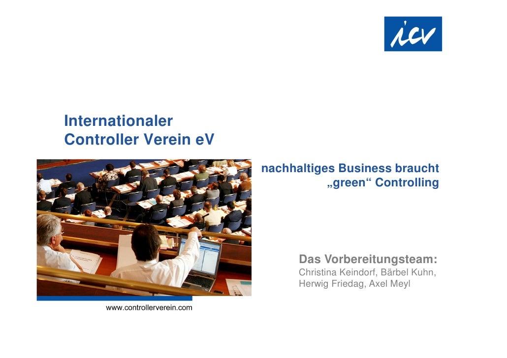 """InternationalerController Verein eV                       nachhaltiges Business braucht                                  """"..."""