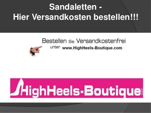 Sandaletten - Hier Versandkosten bestellen!!!