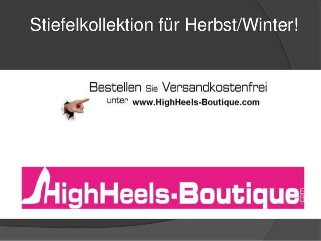 Stiefelkollektion für Herbst/Winter!